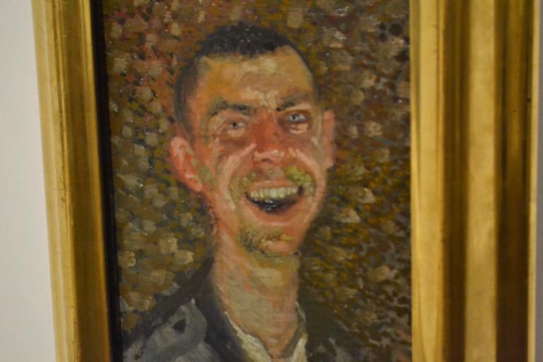 Richard Gerstlさんが自分自身を描いたもの タイトルは『Laughing(わらってる)』。