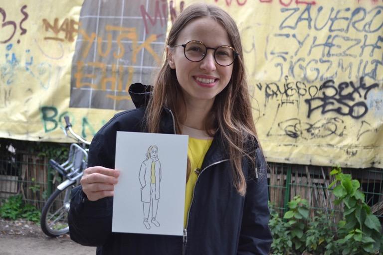 ドイツ ベルリン イラスト バスキング